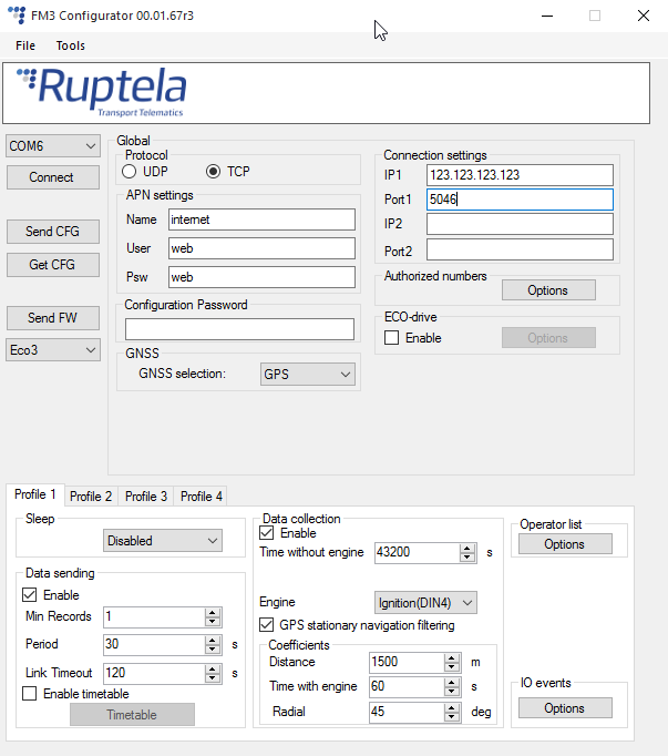 Ruptela FM-Eco3 Configuration for Traccar – Rob's Blog